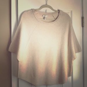 Joie poncho sweater in fabulous cream.